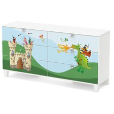 Andy 6 Drawer Double Dresser
