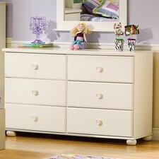 Sand Castle 6 Drawer Double Dresser