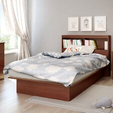 Step One Twin Platform Bed with Bookcase Headboard