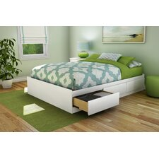 Full Platform Bed with Underbed Storage