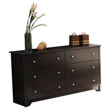 Vito 6 Drawer Double Dresser
