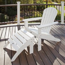 Trex Outdoor Cape Cod Adirondack Chair and Footstool Set