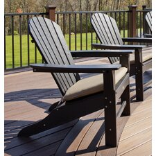 Trex Outdoor Cape Cod Adirondack Chair with Cushion