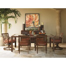 Ocean Club Pacifica 7 Piece Dining Set with cushions