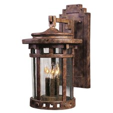 Santa Barbara Cast 3-Light Outdoor Wall Lantern