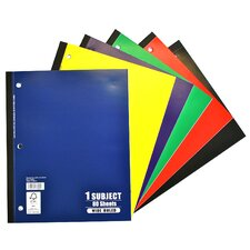 80 Sheets 1 Subject Wide Ruled Notebook