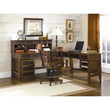 Mercantile 5-Piece Credenza Desk Office Suite