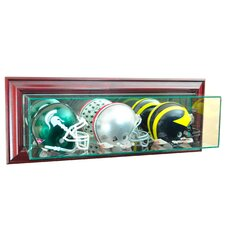 Wall Mounted Triple Mini Football Display Case