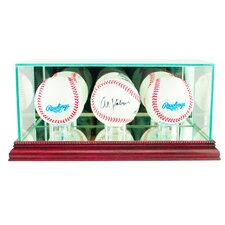 Triple Baseball Display Case