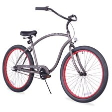 """Men's Firmstrong Chief 26"""" Three Speed Beach Cruiser Bicycle"""