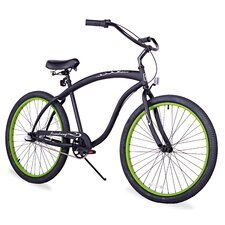 "Men's Firmstrong Bruiser 26"" Three Speed Beach Cruiser Bicycle"