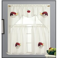 Fruit Basket Kitchen Valance and Tier Set