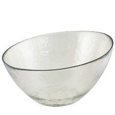 Hammered Glass Angled Serving Bowl (Set of 2)