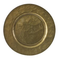 "Metallic 13"" Glass Charger Plate"