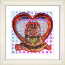 """Girl Doll"" by Zhee Singer Framed Fine Art Giclee Painting Print"