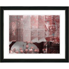"""""""Urban Puzzle - Red"""" by Zhee Singer Framed Fine Art Giclee Painting Print"""