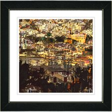 """Morning in the City"" by Zhee Singer Framed Fine Art Giclee Painting Print"