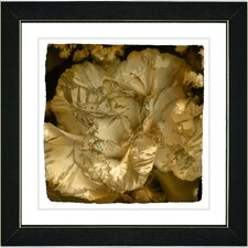 """Sepia Carnation"" by Zhee Singer Framed Fine Art Giclee Painting Print"