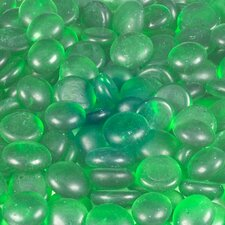 5 lbs of  Glass Gems in Frosted Green