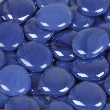 5 lbs of  Glass Gems in Opal Blue