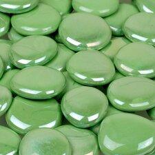 5 lbs of  Glass Gems in Opal Green