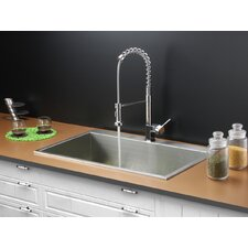 "33"" x 21"" Drop-in Kitchen Sink with Faucet"