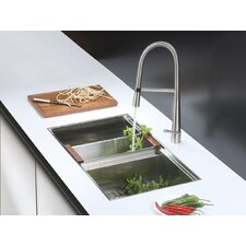 "33"" x 19"" Kitchen Sink with Faucet"