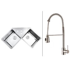 "43.75"" x 23""  Kitchen Sink with Faucet"
