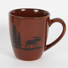 Woodland River Moose Stoneware 12 Oz. Mug