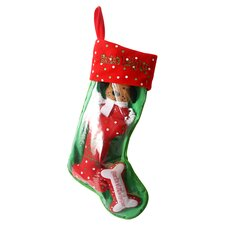 "Santa's Lucky Dog ""Snowflake Dog"" Holiday Pet Stocking and Toy Set"