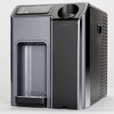 Hot, Cold, and Room Temperature Countertop Water Cooler in Silver and Black