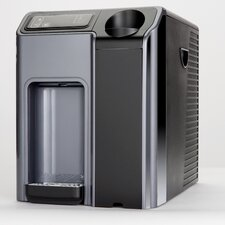 Hot and Cold Countertop Water Cooler in Silver and Black