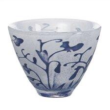 Floating Blue Flower Decorative Bowl