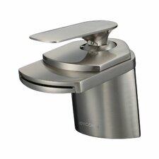 Marble Single Handle Waterfall Bathroom Sink Faucet