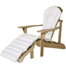 Western Red Cedar Outdoor Adirondack Chair and Ottoman Cushion