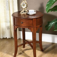 Round Drawer End Table