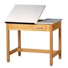 Fiberesin Adjustable Drafting Table with Drawer