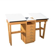 "A-Frame Two Station 60""W x 24""D  Work Table"