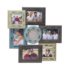 7-Opening Distressed Wood Collage Frame