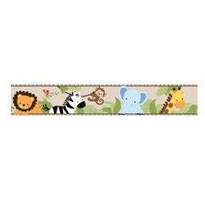 "Jungle Buddies 15' x 6"" Wildlife Border Wallpaper"