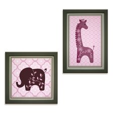 Lavender Jungle 2 Piece Decorative Wall Hanging Set