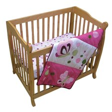 Raspberry Swirl 3 Piece Crib Bedding Set