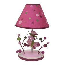"Raspberry Swirl 12"" H Table Lamp with Empire Shade"