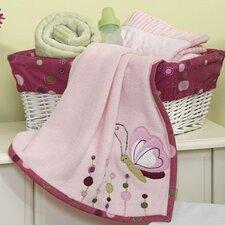 Raspberry Swirl Plush Blanket with Applique