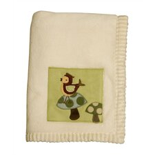 Enchanted Forest Plush Blanket with Applique