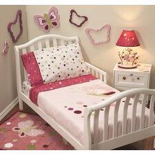 Raspberry Swirl 4 Piece Toddler Bedding Set