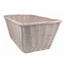Madison Avenue Baby Basket in White