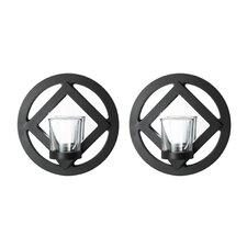 Circle Mirror Sconce (Set of 2)