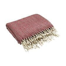 Herringbone Cashmere Silk and Pashmina Throw Blanket