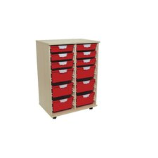 12 Tray Mix Tall Wood Cabinet